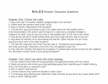 Rules Literature Circle Guide