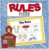 Rules Mini Poster - Classroom Rules, Circle Time Rules