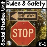 Rules NO PREP Kindergarten Social Studies Mini-Unit
