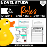 {UPDATED} Rules Novel Study with Lesson Plans