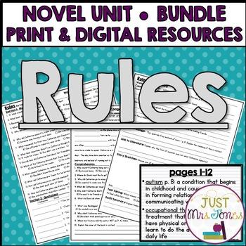 Rules Novel Unit