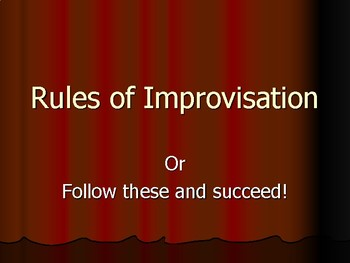 Rules Of Improv  - Intro PowerPoint