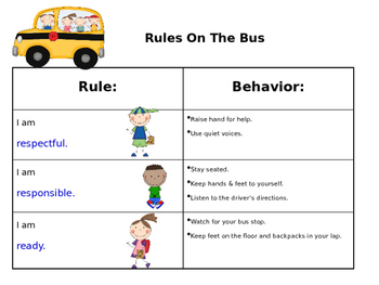 Rules On The Bus Poster