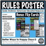 SCHOOL CLASSROOM RULES POSTER - Behaviour Management