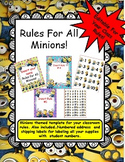 Rules Poster Templates- Minion Themed! Editable for Your Classroom Rules