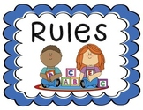 Rules Poster for Classroom