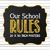 Rules Poster for Elementary Schools: Set of 6