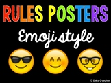 Rules Posters - Emoji Style | Back to School | Decor