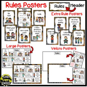 Rules Posters (Jungle/Safari Theme)
