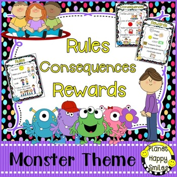 Rules Posters, Monster Theme