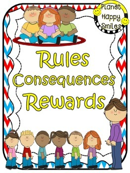 Rules Posters (Red, White & Blue Chevron)