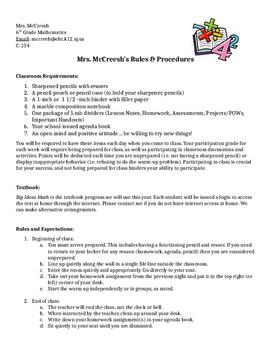 Rules & Procedures