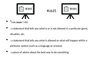 Rules & Procedures Centered Around the 3 R's & Collaboration
