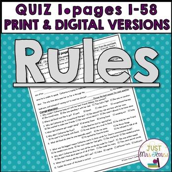 Rules Quiz 1 (Ch. 1-5)