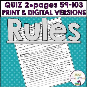 Rules Quiz 2 (Ch. 6-10)