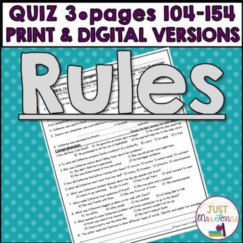 Rules Quiz 3 (Ch. 11-15)