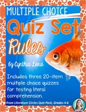 Rules Quiz Set * Novel Quizzes