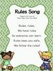 Rules Song FREEBIE