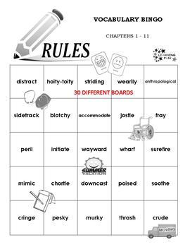 Rules Vocabulary Bingo