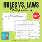 Rules Vs. Laws Sorting Activity