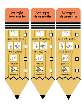 Rules Writers Use Bookmark in English and Spanish!