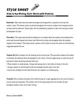 Rules Writing Style Sheet