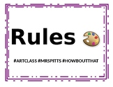 Rules and Consequence Signs - with emojis and hastags