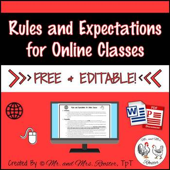 Rules and Expectations for Online Classes {Free and Editab