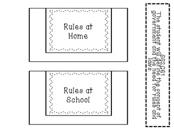 Rules and Laws: A 2nd Grade Interactive Notebook