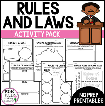 Rules and Laws Activity Pack - Civics and Citizenship Unit