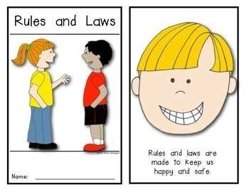 {Rules and Laws} Emergent Reader for Young Students: Social Studies
