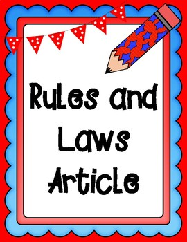 Rules and Laws Informational Text