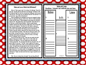 Rules and Laws Presentation With Article & Quiz Quiz Trade Game