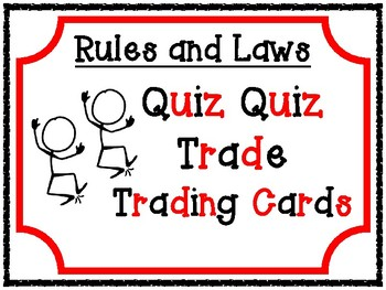 Rules and Laws Quiz Quiz Trade Game