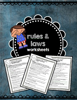 Rules and Laws Social-Science Worksheets