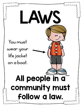Rules and Laws Social Studies Unit