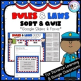 Rules and Laws Sort (Digital) - For Google Classroom - Dis