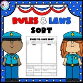 Rules and Laws Sort Printable
