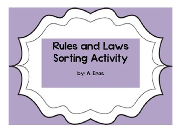 Rules and Laws Sorting Activity