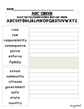 Rules and Laws Unit 2nd Grade Georgia Social Studies