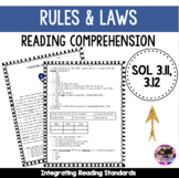 Rules and Laws VA SOL 3.11 and 3.12