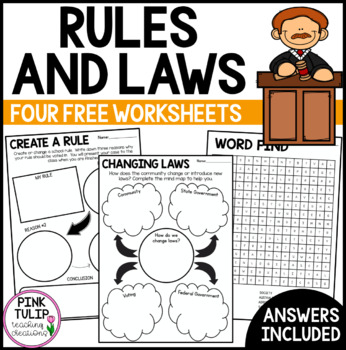Rules and Laws Worksheets - Civics and Citizenship