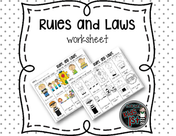 Rules and Laws worksheet