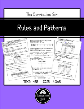 Rules and Patterns Journal Notes (4.5B, 4.OA.5)