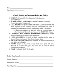 Rules and Policy in Classroom