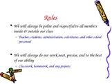 Rules and Procedures Power Point