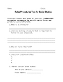 Rules and Procedures Test