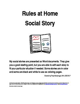 Rules at Home Social Story