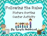 Rules at School and Home Picture Sorting Activity
