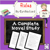 Rules by Cynthia Lord A Novel Study